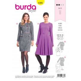 Dress sewing pattern for women - Burda N°6385
