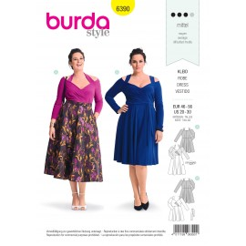 Dress sewing pattern for women (Plus Size) - Burda N°6390