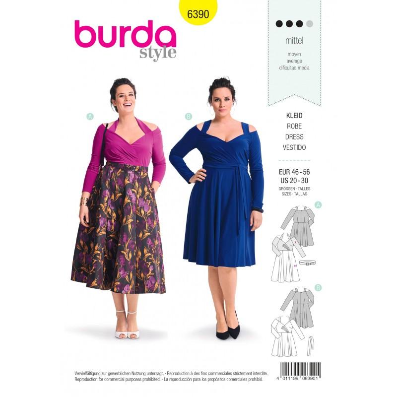 Dress Sewing Pattern For Women Plus Size Burda N6390