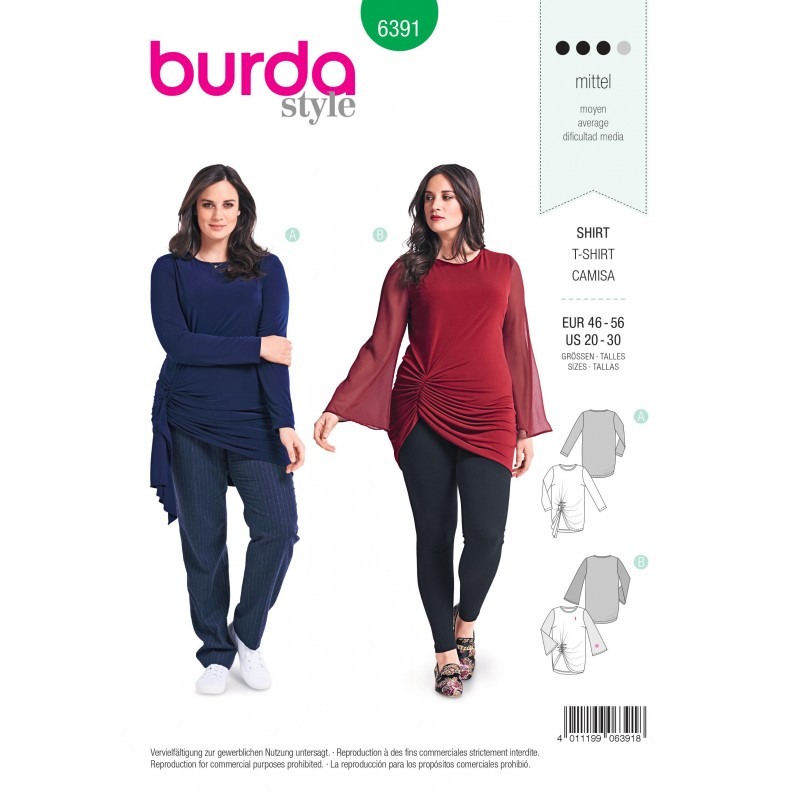 Top Sewing Pattern For Women Plus Size Burda N6391