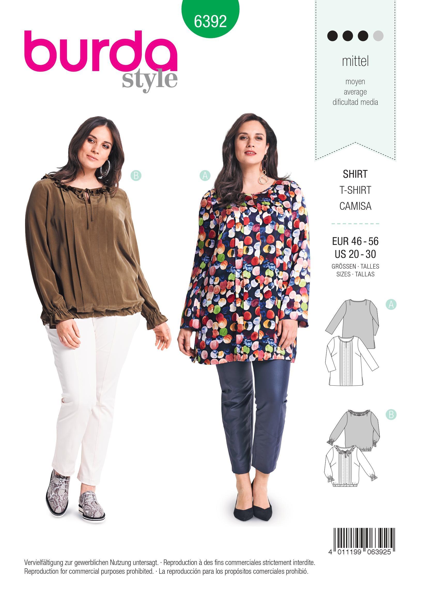 Plus Size Blouse Sewing Patterns | ANLIS