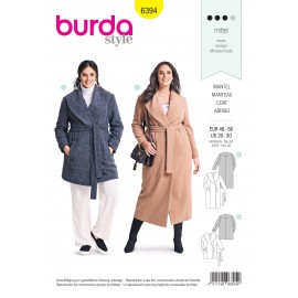 Coat sewing pattern for women (Plus Size) - Burda N°6394