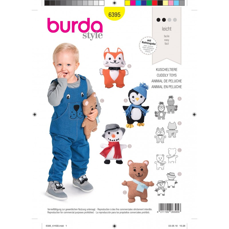 Burda Crafts Sewing Pattern 6495 Stuffed Animal Horse /& Unicorn Toys