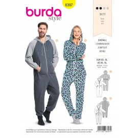Pajamas Jumpsuit Sewing Pattern - Burda N°6397