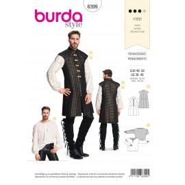 Patron Costume Renaissance pour homme Burda N°6399