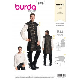 Renaissance Costume Sewing Pattern for Men - Burda N°6399
