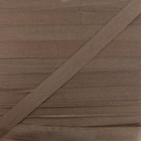 Ruban de soie 10 mm brun