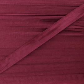 Ruban de soie 10 mm bordeaux