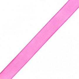 Muslin ribbon 15 mm - candyfloss pink