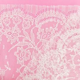 Lace of Calais® Fabric - white Amandine x 10cm