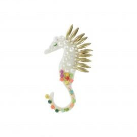 Seahorse jewel iron-on