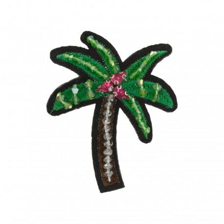 Palm Tree jewel iron-on