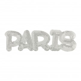 Sequins Paris iron-on - silver
