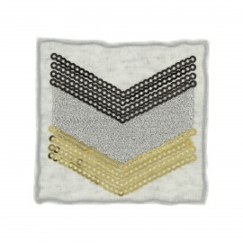 Sequins Military iron-on - grey