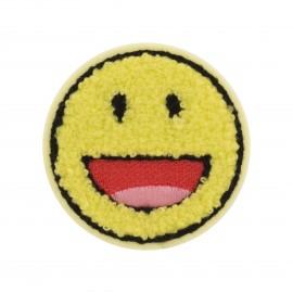 Thermocollant Smiley Bouclette  - jaune