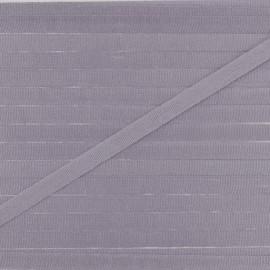 Ruban aspect soie 4 mm - orage x 1m
