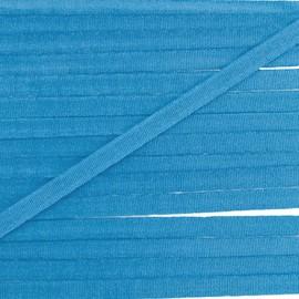 Ruban aspect soie 4 mm - bleu azur