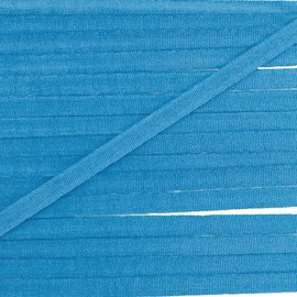 Silky aspect ribbon 4 mm - azure blue x 1m