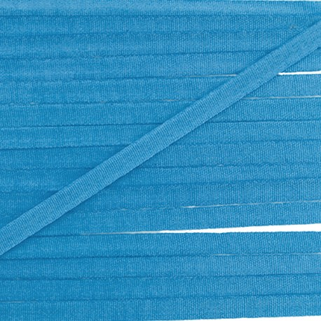 Silky aspect ribbon 4 mm - azure blue