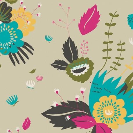 Tissu coton AGF Odessa Deram - sable x 10cm