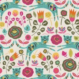 Cotton fabric - ecru AGF Tigris Lollipop x 10cm
