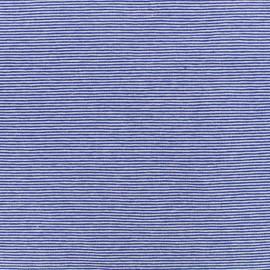 Tissu Jersey Fines Rayures - bleu x 10cm