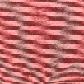 Jersey Fabric - red fine stripes x 10cm