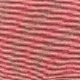 Tissu Jersey Fines Rayures - rouge x 10cm