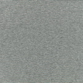 Jersey Fabric - black fine stripes x 10cm
