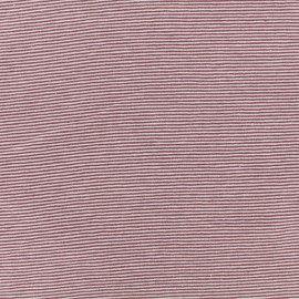 Jersey Fabric - purple/mauve fine stripes x 10cm