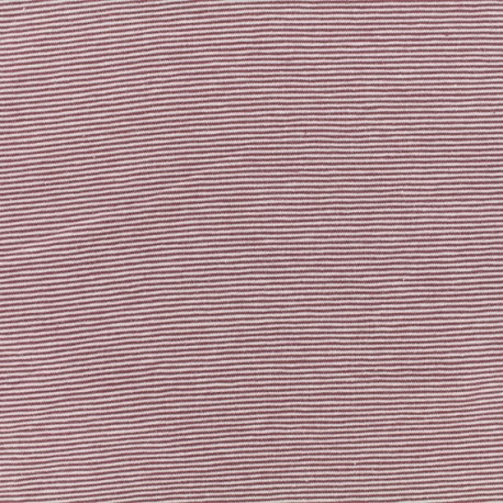 Tissu Jersey Fines Rayures - violet/mauve x 10cm