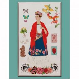 Tissu coton Alexander Henry  L'Artista con Alma - multi x 60cm