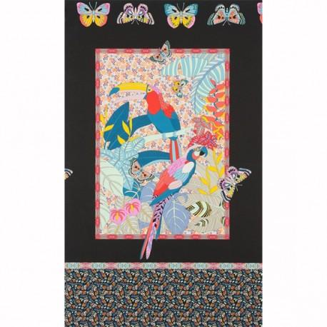 Alexander Henry cotton fabric - black Rio x 60cm