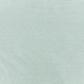 Jersey Fabric - Light green/sauge fine stripes x 10cm