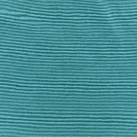 Jersey Fabric - Turquoise/petrol fine stripes x 10cm