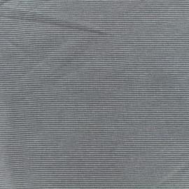 Tissu Jersey Fines Rayures - Gris/gris foncé  x 10cm
