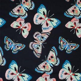 Tissu coton Alexander Henry Marilia - noir x 10cm