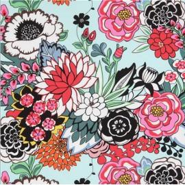 Alexander Henry fabric - water green Coyoacan Garden x 10cm