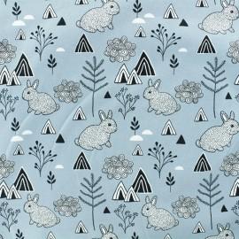 Tissu Jersey Polar Rabbit - Gris x 10cm