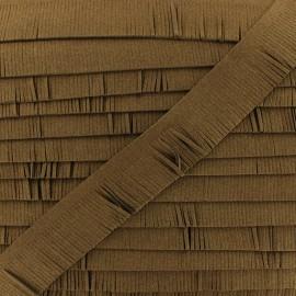 Suede fringe trim - brown x 50cm
