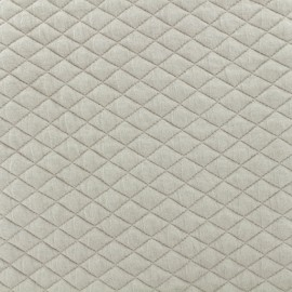Quilted fabric single-sided Diamond - Taupe x 10cm
