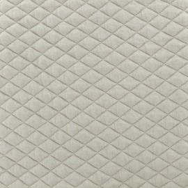 Tissu matelassé simple face losanges - Taupe  x10cm