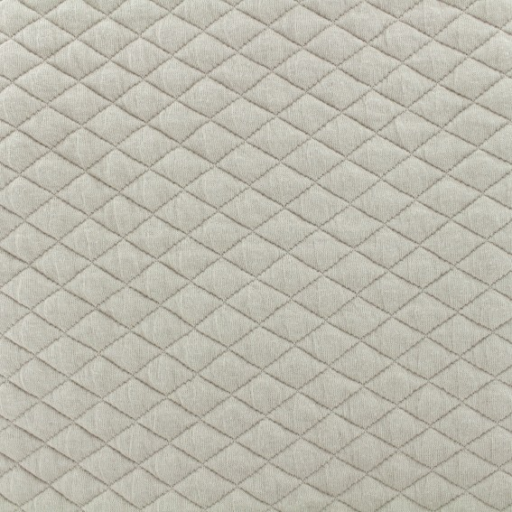 Quilted fabric single-sided diamond - taupe