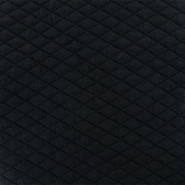 Quilted fabric single-sided Diamond - Black x 10cm