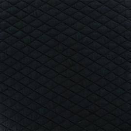Tissu matelassé simple face losanges - Noir x10cm