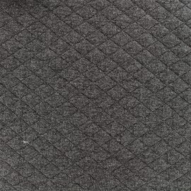 Tissu matelassé simple face losanges - Gris Foncé x10cm
