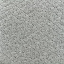 Quilted fabric single-sided Diamond - Light Grey x 10cm