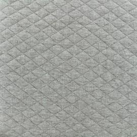 Tissu matelassé simple face losanges - Gris clair x10cm