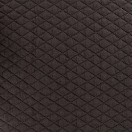 Quilted fabric single-sided Diamond - Brown x 10cm