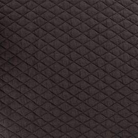 Tissu matelassé simple face losanges - Marron x10cm